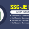 SSC JE Online Application